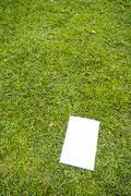 Blank white flyer Stock Photos