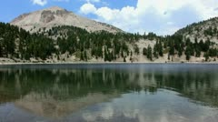 Lassen 30 Lake Helen Stock Footage
