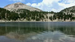 Lassen 31 Lake Helen Stock Footage