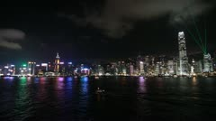 Laser Light Show in Hong Kong Stock Footage