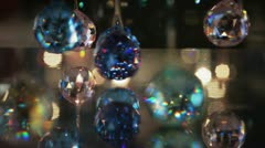 Crystals Hanged Decoration Stock Footage