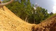 Downhill Mountain Bike Passing By 1 Stock Footage