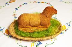 paschal lamb - stock photo