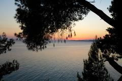 Sunset in sithonia, chalkidiki, greece Stock Photos