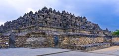 Borobudur buddhist temple (ix cent.),   unesco world heritage site, magelang, Stock Photos