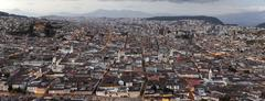 Quito Capital Of Ecuador Panorama As Seen From Panecillo Statue - stock photo