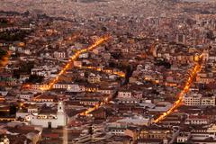 Old Town Of Quito As Seen From Panecillo Statue - stock photo