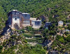Simonopetra monastery, athos peninsula, mount athos, chalkidiki, greece Stock Photos