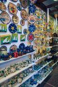 souvenir shop in ouranopolis, athos peninsula, mount athos, chalkidiki, greec - stock photo