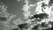 Stock Video Footage of Time Lapse Clouds Black and White 720