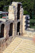 herodes atticus theater, acropolis, athens, greece - stock photo