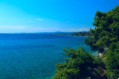 Sithonia sea view, chalkidiki, greece Stock Photos