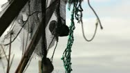 Stock Video Footage of Old fishing nets and machinery