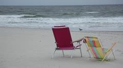 Empty Beach in Long Beach Long Island Stock Video Stock Footage