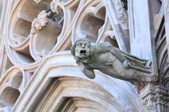 Gargoyle of basilique saint-nazaire-et-saint-celse, carcassonne Stock Photos