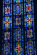 Stained glass of church of the jacobins, toulouse, france Stock Photos