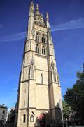 tour pey-berland, belltower of cathédrale saint-andré (11th- - stock photo