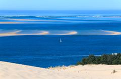 View from the highest dune in europe - dune of pyla (pilat), arc Stock Photos