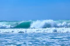 atlentic ocean waves near biarritz, france - stock photo
