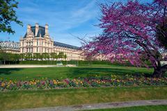 Louvre-museo ja Jardin des Tuileries (Tuileries puutarha), s. Kuvituskuvat