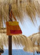 umbrella and bag - stock photo
