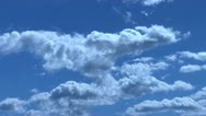 Stock Video Footage of Fluffy Clouds 720