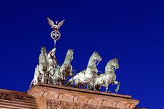 quadriga of brandenburger tor (the brandenburg gate) - stock photo