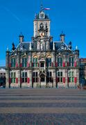 Stadhuis (city hall) (1618) on markt square, delft, netherlands Stock Photos