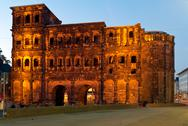 The porta nigra, view from south, trier, germany Stock Photos