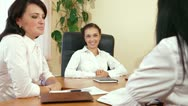 Business Women Working Together in a Meeting Stock Footage