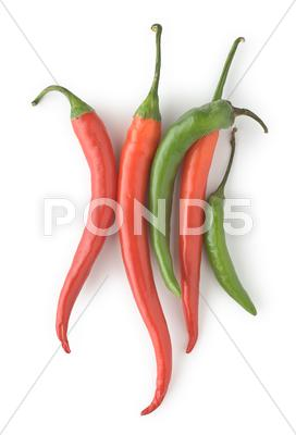 Stock photo of chili peppers