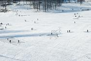 Stock Photo of recreation on a frozen lake