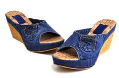 jeans shoes - stock photo
