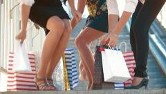 Girls Shopping - stock footage
