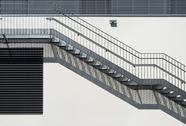 Stock Photo of metal stairs abstraction