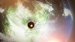 Sputnik Space Satellite Orbits North America Stock Footage