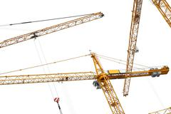 Construction site with cranes Stock Photos