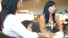 Female Lively Conversation Stock Footage