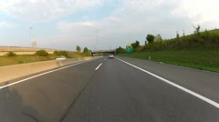 Motorcycle Riding On The Highway 1 - stock footage