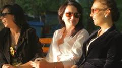 Girlfriends Gossiping Stock Footage