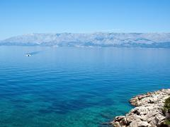 View at blue adriatic sea Stock Photos