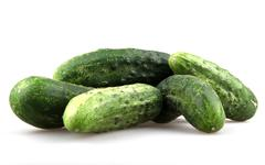 Stock Photo of fresh cucumbers