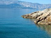 View at adriatic sea from the coast Stock Photos