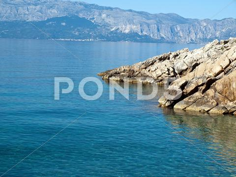 Stock photo of View at adriatic sea from the coast
