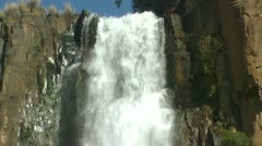 The top half of the Howick falls Stock Footage