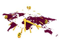 world time - stock illustration