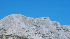 Mount St Victoire in Aix-en-Provence Stock Footage