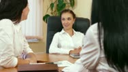 Casual Business Meeting In The Office Stock Footage