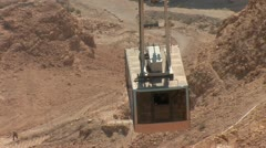 cableway on Mount Masada in Israel 2 - stock footage