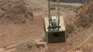 Stock Video Footage of cableway on Mount Masada in Israel 2